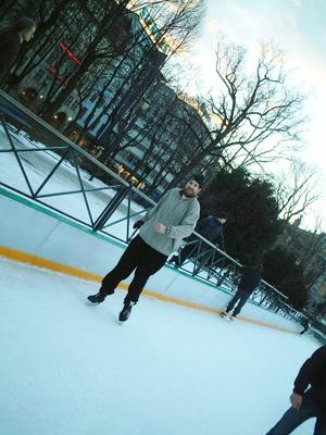 Andjam ice skating