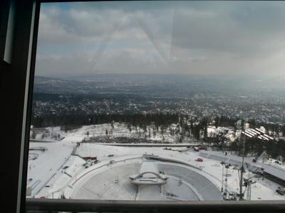 Oslo from Holmenkollen ski jump