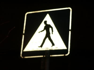 Oslo pedestrian crossing sign