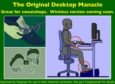desktop manacle