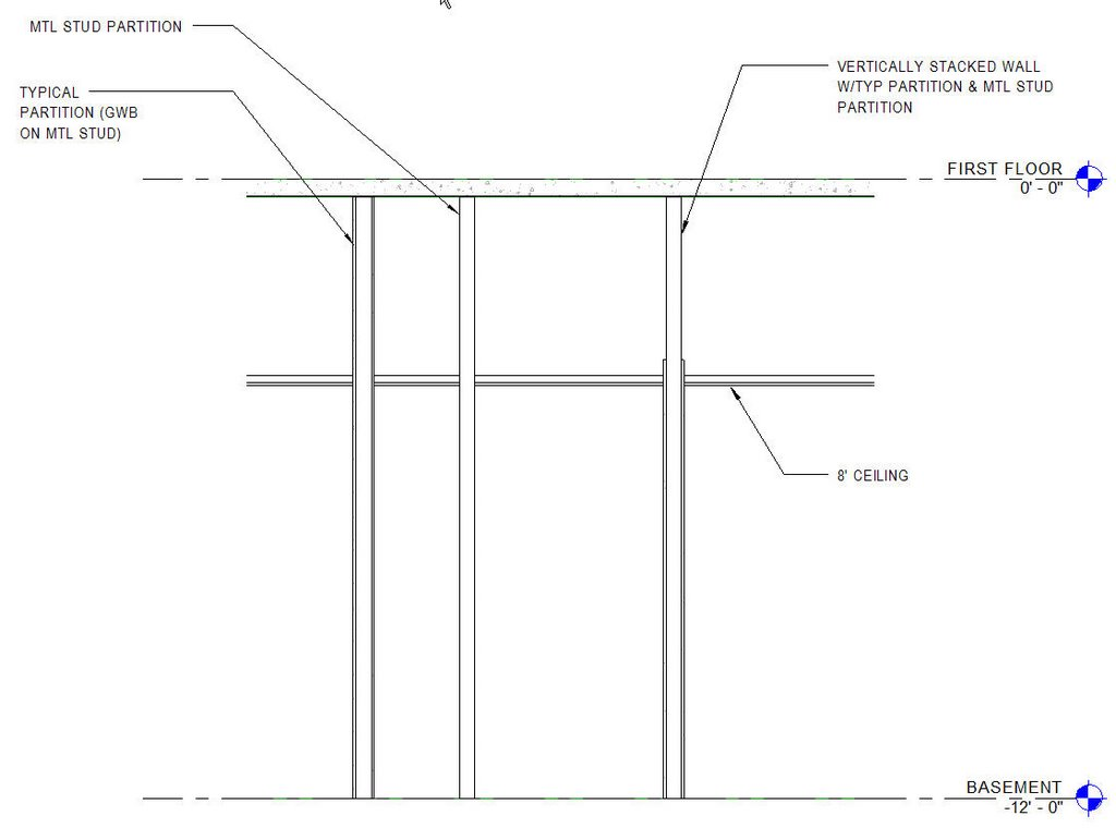 It Was Then That I Realized That We Could Use A Vertically Stacked  Partition For An Interior Wall Where The GWB Needs To Only Go Up The Ceiling  (or Just A ...