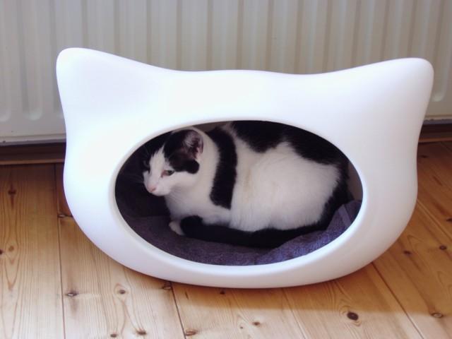 Kattenmand in vorm van kattenhoofd