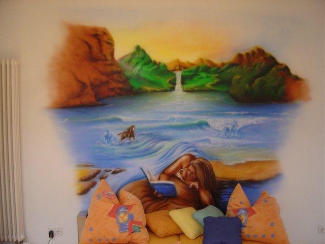 Bilder schlafzimmer wandbemalung for Wandbemalung schlafzimmer