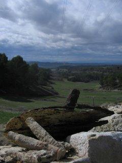 auténticas bainas y restos de una mina en los montes de Alcubierre