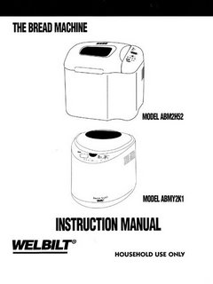 welbilt bread machine manual abm3500