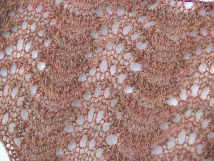 Old Shale Knitting Pattern Afghan : Creative Pop-Offs: Old Shale variation scarf