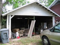 The Carport: Before Dejunking