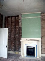 Gutted Fireplace Wall
