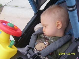 Sleeping jogger