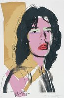 Mick Jagger door Andy Warhol