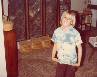Noah, age 9, in living room in 1981