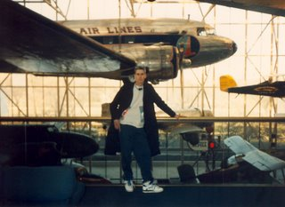 Noah in front of DC-3 at the National Air and Space Museum