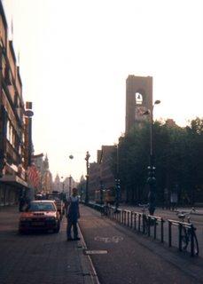Noah on early morning Amsterdam street
