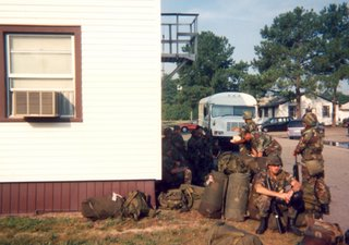 Our Army barracks at Fort Eustis