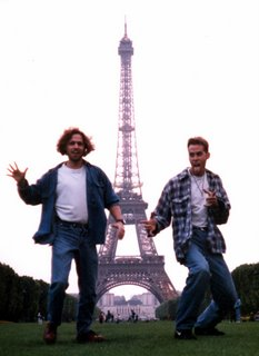 Greg and I in front of Eifel Tower in Paris