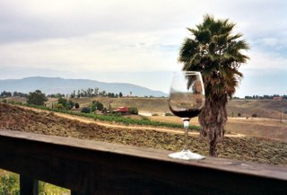 View of Temecula Valley from Falkner Winery