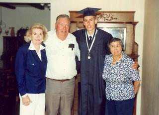 Noah and his Grandparents after High School Graduation