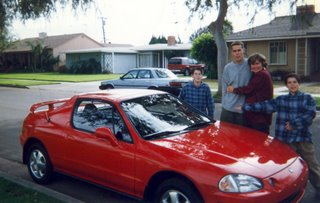 Noah, Daphne, Kent & Pattison with new Honda Del Sol