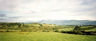 View of Irish Countryside from Train