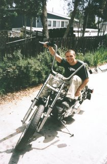 Joel with his new Harley Motorcycle