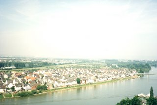 View of Rhein River from Balcony in Koblenz