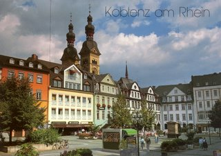 Postcard I bought in Koblenz