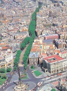 Postcard of Las Ramblas I bought in Barcelona