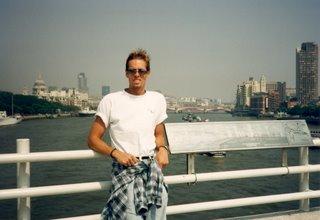 Noah on bridge in London