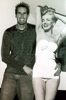Noah Unsworth with Marilyn Monroe cutout