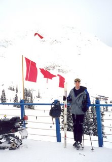 Noah in front of Whistler Mountain