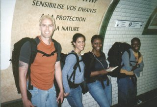 Noah, Fatima, Danielle & Lisa in the Paris Metro
