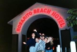 The group in front of the Rosarito Beach Hotel