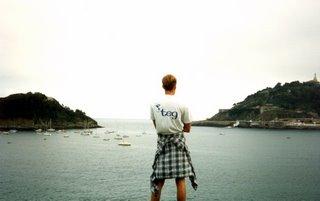 Noah overlooking San Sebastian Bay