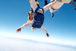 Noah jumping out of plane in Perris