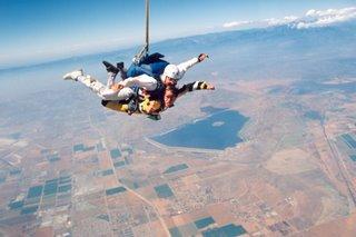 Noah skydiving in Perris