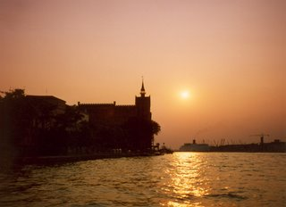 Sunset over Venice Canal