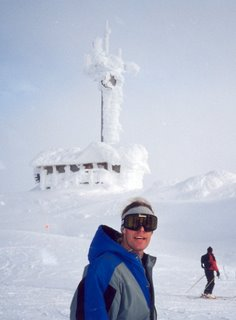 Noah on frozen Whistler Summit