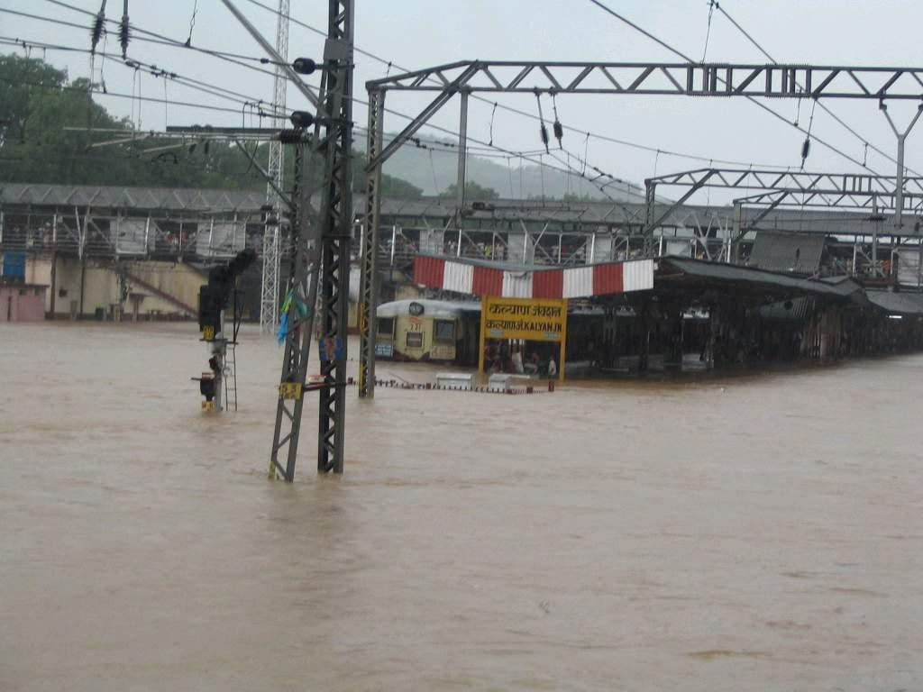 Submerged railway station