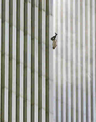 Man Jumping from WTC terrorist attack