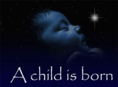 The Christ child is born!
