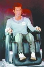 古天樂與OSIM按摩椅