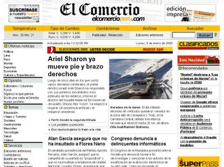 El Comercio Online 9 Ene 2006