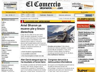 El Comercio Online 9 Ene 2006