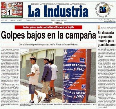 posters contra Lourdes Flores y UN