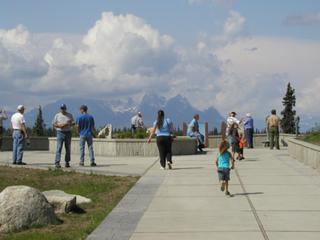 Checking out Denali Mountain