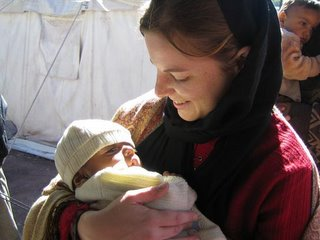 Amber with baby Ajmal.