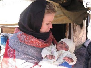Katie with baby Ajmal.