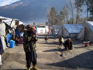 A tent village in Balakot.