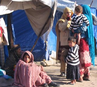 My neighbors in our tent village high up in the foothills of the Himalayas.