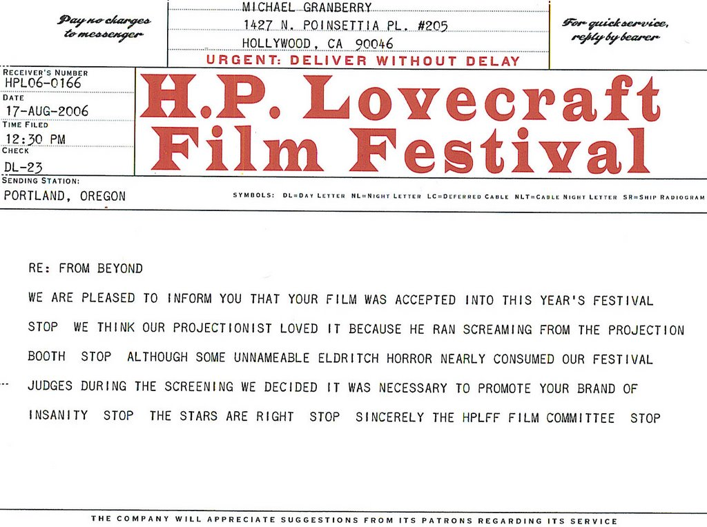 red hatchet films  festival acceptance letters worth framingwe are pleased to inform you that your film was accepted into this year    s festival stop we think our